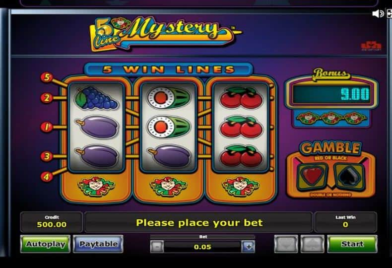 Spiele 5 Line Mistery - Video Slots Online